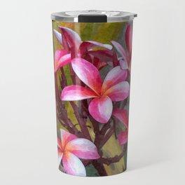 Hawaiian Pink Plumera Travel Mug