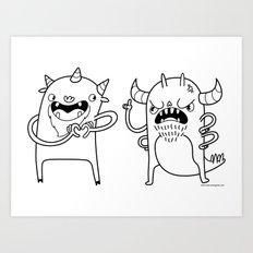 Monster Dialogues Art Print