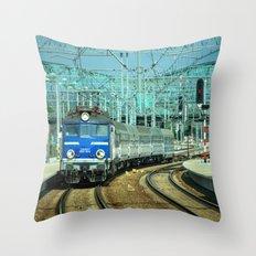 Gdansk wrzeszcz train station Throw Pillow