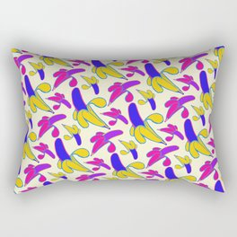 Berry Berry Nanners - Pink and Yellow Rectangular Pillow