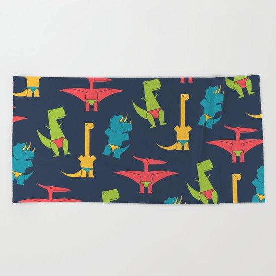 Dinos In Speedos Beach Towel