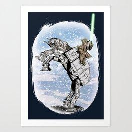 Yoda Visits Hoth  Art Print