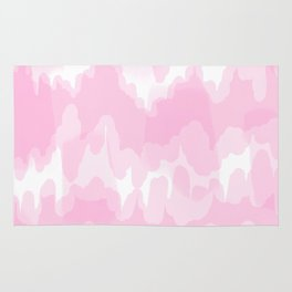 Blossom - Blush pink abstract art Rug