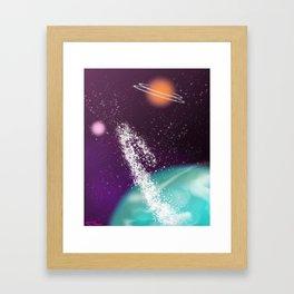 The Colourful Galaxy Framed Art Print