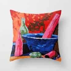 Still life collage Throw Pillow