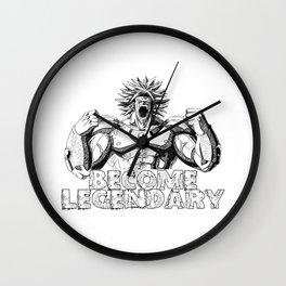 BECOME LEGENDARY- BROLY SUPER SAIYAN Wall Clock
