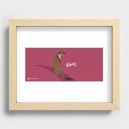 Stoat Recessed Framed Print
