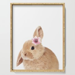 flower bunny Serving Tray