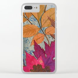 Colorful Leaves Clear iPhone Case