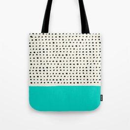 Aqua x Dots Tote Bag