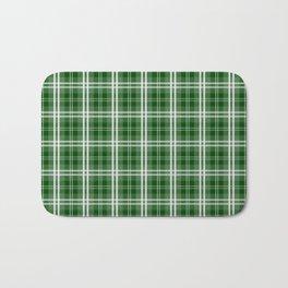 Christmas Tree Green Tartan Plaid Check Bath Mat