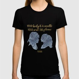 Winterson Your body is a candle T-shirt