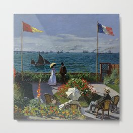 "Claude Monet ""Garden at Sainte-Adresse (Jardin à Sainte-Adresse)"" Metal Print"