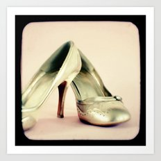 I love my gold shoes 1 Art Print