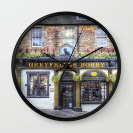 Greyfriars Bobby Pub edinburgh Wall Clock