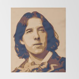 Oscar Wilde Throw Blanket