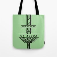 sword Tote Bags featuring Master Sword by Jacob Cummings