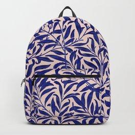 Leaves pattern blue pink Backpack