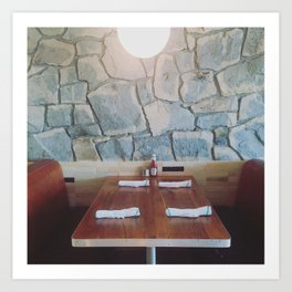 King Highway Diner, Palm Springs Art Print