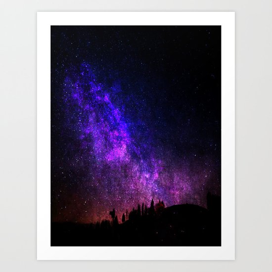 Galaxy Shower Art Print