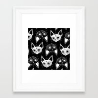 loll3 Framed Art Prints featuring Kittens  by lOll3