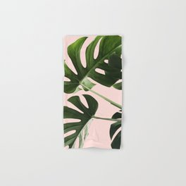 Monstera x Pink Hand & Bath Towel