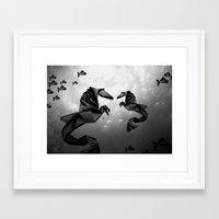sea horse Framed Art Prints featuring Sea Horse by JPeG