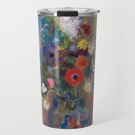 Odilon Redon - Bouquet of Flowers (1900-05) Travel Mug
