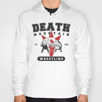 wrestling Hoodies featuring Death Mountain Wrestling by Nick Overman