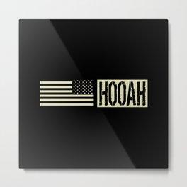 Hooah (Black Flag) Metal Print