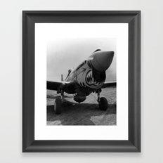 Vintage Fighter Framed Art Print