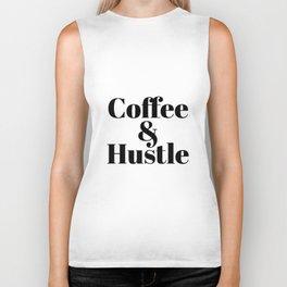 Coffee _ Hustle Ladies Unisex Crewneck Workout Gym Short and Long Sleeve hustle Biker Tank