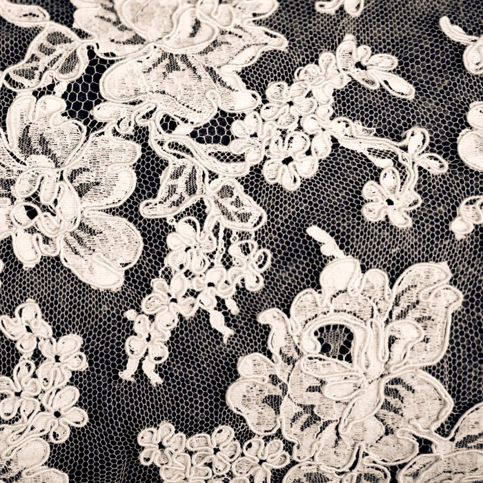 black and white lace- Photograph of vintage lace Comforters
