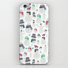 Watercolour snowmen! iPhone Skin