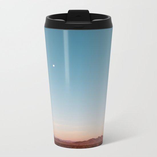Desert Sky with Harvest Moon Metal Travel Mug