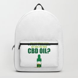 CBD Oil Lover Hemp Cannabidiol Funny Gift Backpack