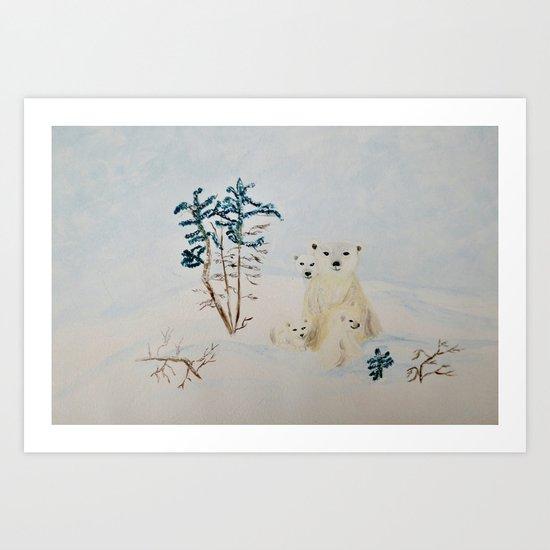 Polar Tenderness Art Print