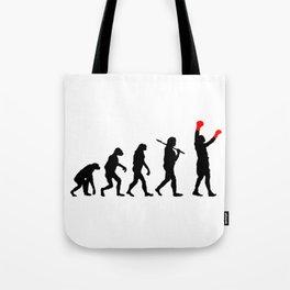 Boxing Evolution Art Tote Bag