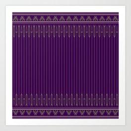 Arrows (Purple) Art Print