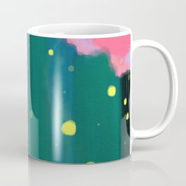 Tall Grass Pink Sky - Fireflies 1 Coffee Mug