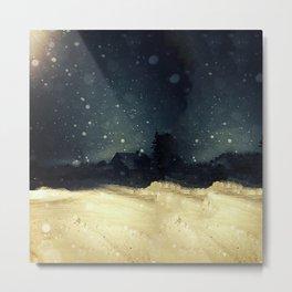 A Winter Night's Walk Metal Print