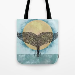 Sunset Whale Tote Bag