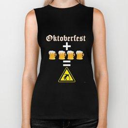 Oktoberfest & Beers = Drunk   Octoberfest Tee Shirt Biker Tank