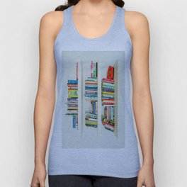 Bookshelf Unisex Tank Top