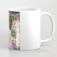80s Mugs featuring 80s dreamscape by Charlie L'amour