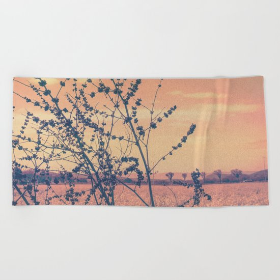 Imperfect Beauty (Beginning of Spring, California Countryside Farm) Beach Towel