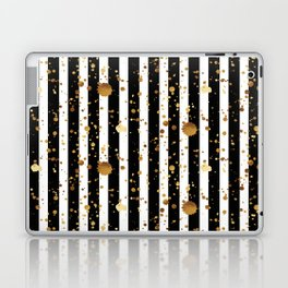 Stripes & Gold Splatter Laptop & iPad Skin