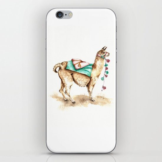 Watercolor Llama iPhone & iPod Skin