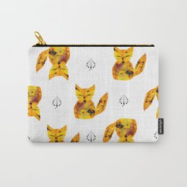 Pressed Flower Fox Print Carry-All Pouch