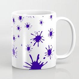 blue spots on white background Coffee Mug